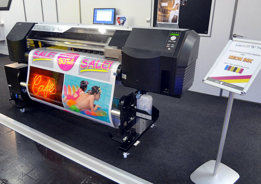 Seiko-ColorPainter-W-54s-printing-with-neon-ink-drupa-2012