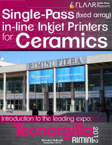 Single-Pass(fixed array) in-line Inkjet Printers for Ceramics, Tecnargilla 2012