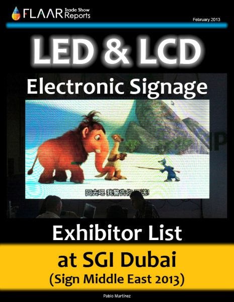 SGI Dubai 2013 LED and LCD Signage
