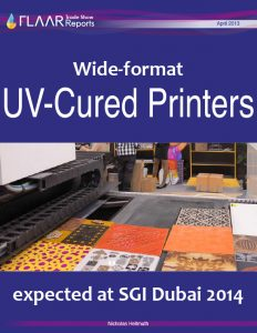 Wide-format UV-cured Printers expected at SGI Dubai 2014