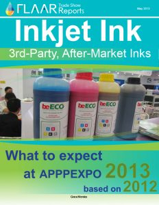 Inkjet ink 3rd-Party, After-Market inks what to expect at APPPEXPO 2013 based on 2012
