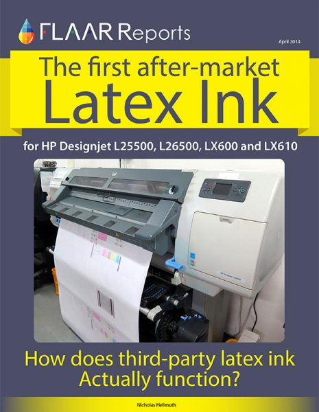 The first after market Latex Ink for HP Designjet L2550
