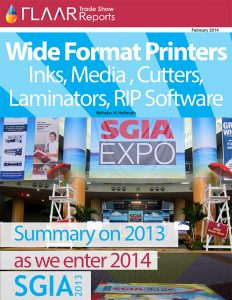 SGIA 2013 exhibitor list uv cured printers textile printers inks media flatbed cutters