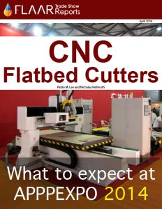 APPPEXPO 2014-2013 Shanghai FLAAR Reports CNC flatbed cutter