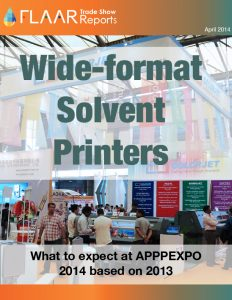 Solvent Printers APPPEXPO 2014 based in 2013