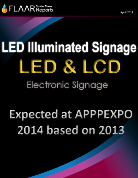APPPEXPO 2014-2013 Shanghai FLAAR Reports LED Illuminated signage LED LCD