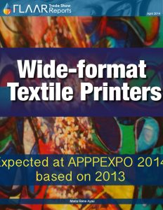 APPPEXPO 2014-2013 Shanghai FLAAR report wide format textile printers