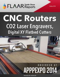APPPEXPO 2014 Shanghai CNC routers CO2 laser engravers xy flatbed cutters list FLAAR Reports