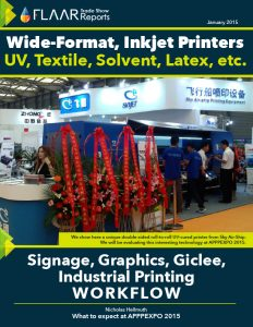 APPPEXPO 2015 exhibitor list preview UV solvent textile printers