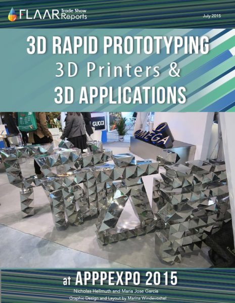 APPPEXPO 2015 3D Rapid Prototyping Printers and 3D Applications
