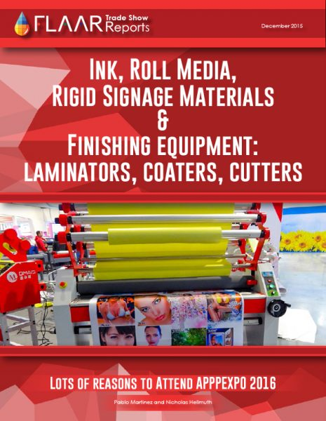 APPPEXPO 2016 Ink media coater laminator CNC