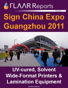 Sign China Expo Guangzhou 2011 wide format UV cured printers exhibitor list