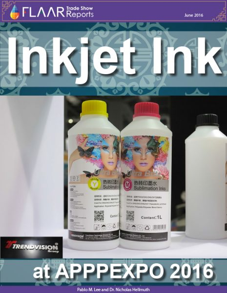 APPPEXPO 2016 inkjet ink UV solvent waterbased dye sublimation