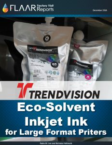 TRENDVISION Eco-Solvent inkjet ink FLAAR Reports