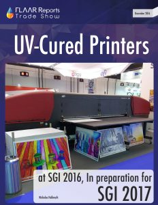 SGI Dubai 2016 UV Printers In preparation for SGI 2017