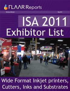 ISA 2011 exhibitor list 2012 UV textile printers inks media substrates CNC cutters