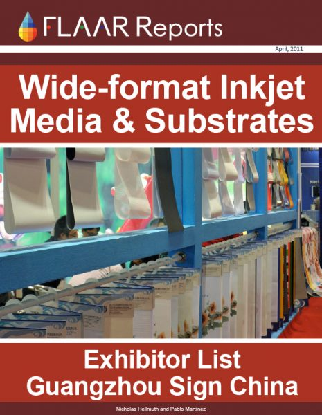 Wide format inkjet media substrates film vinyl PVC canvas Guangzhou Sign China Expo exhibitor list 2011 2012 FULL exhibitors