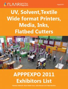 UV, textile, solvent, wide format printers, media & substrates, after market inks, exhibitor list APPPEXPO Shanghai 2011-2012