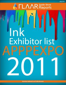 After market, third party inkjet ink, FLAAR exhibitor list Shanghai APPPEXPO 2011, prepare for exhibitor list 2012