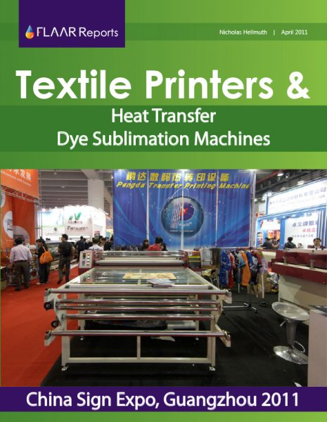 Textile printers exhibited at Guangzhou 2011