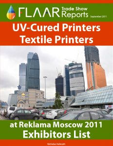 Exhibitor List of Reklama Moscow 2011 UV cured wide format printers cutters textile printers