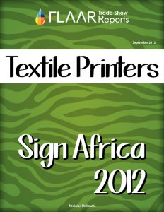 Sign Africa 2012 Textile Printer
