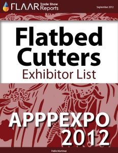APPPEXPO 2012 Flatbed Cutters