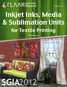 Inkjet Inks, Media, & Sublimating Units for Textile Printing at SGIA 2012