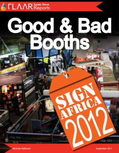 Sign Africa 2012. Good and bad trade show booth design