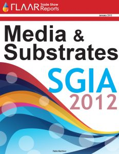 SGIA 2012 media and substrates manufactures distributors exhibitor list 2013