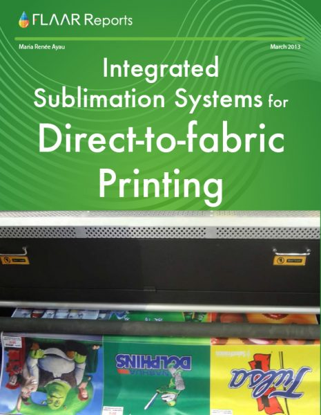 Integrated sublimation systems for direct-to-fabric systems