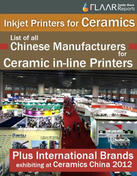 Inkjet Printers for Ceramics at Ceramics China 2012