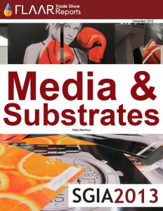 SGIA 2013 FLAAR Report media substrates manufactures distributors exhibitor list