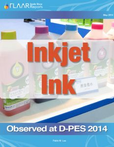 Inkjet ink, Exhibited at D-PES 2014