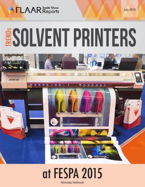FESPA 2015 Solvent Printers TRENDs