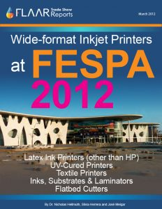 FESPA Digital 2012 Barcelona photo-essay report preparation for exhibitor list FESPA Digital London 2013 magazine