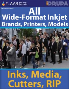 All Wide-format Inkjet Brands, Printers, Models, Inks, Media, Cutters, RIP at Drupa 2012