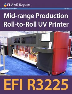 Mid-range Production Roll-to-Roll UV Printer: EFI R3225