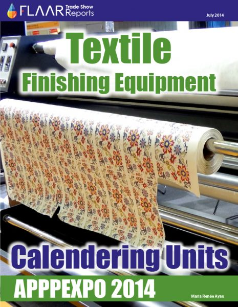 APPPEXPO 2014 Textile Finishing Equipment Calendering Units