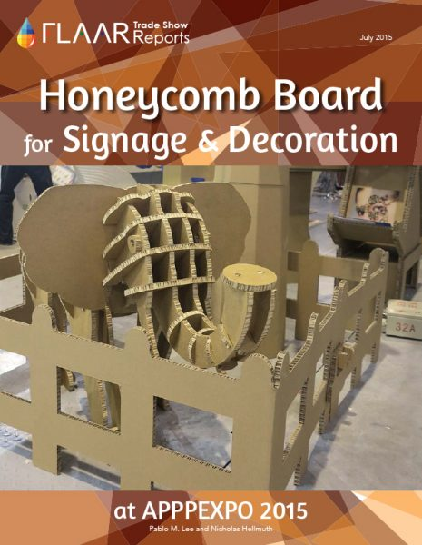 APPPEXPO 2015 Honeycomb Board for Signage & Decoration