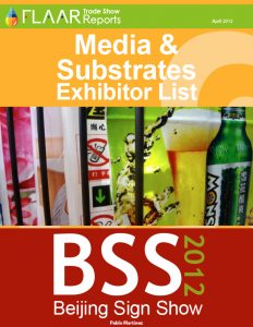 BSS Beijing Sign Show 2012 media substrates manufactures distributors list