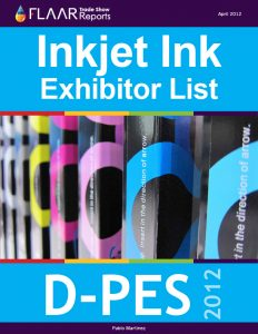 D-PES 2012 digital inkjet ink exhibitor list