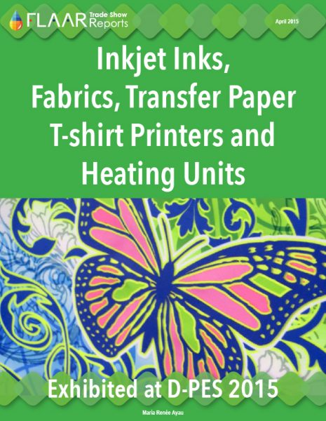 D-PES 2015 Inkjet Inks, Fabrics, Transfer Paper T-shirt Printers and Heating Units