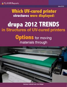 Drupa 2012 Structures in UV-cured printer TRENDs