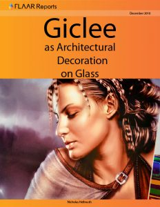 Giclee as architectural decoration on glass