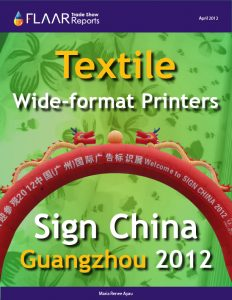 Guangzhou 2012 textile wide format printers
