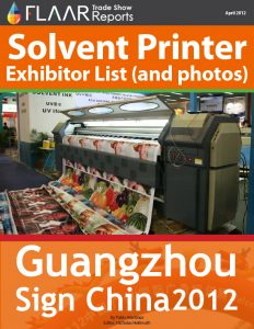 Guangzhou Sign China Expo 2012 solvent exhibitor list 2013