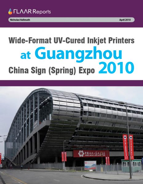Guangzhou 2010 UV Printer TRENDs