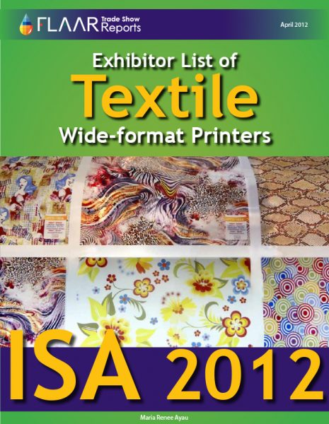 ISA 2012 textile wide format printers list