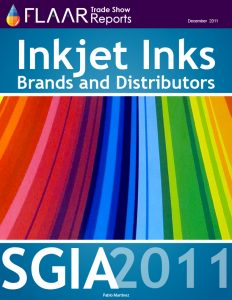Inkjet Inks exhibited at SGIA 2011,brands and distributors